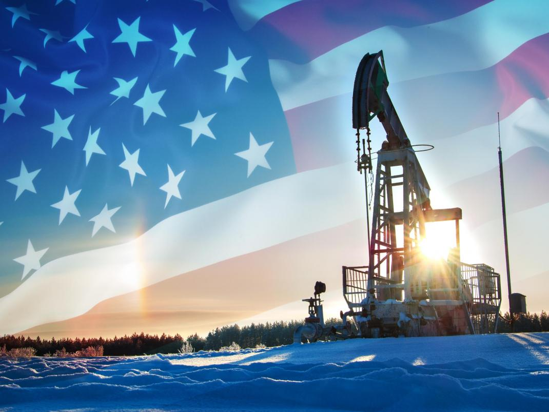 Cedar Valley Energy - oil pump with flag